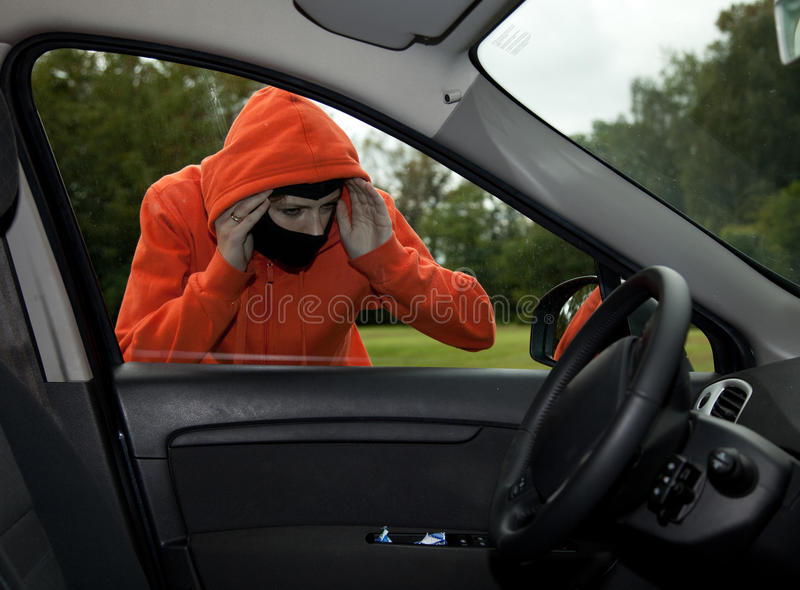 Download Burglar Wearing A Mask (balaclava), Car Burglary Stock Image - Image: 21341473