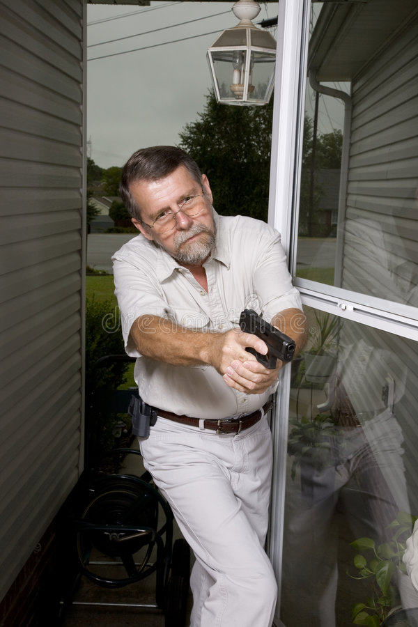 Download Burglary stock image. Image of pistol, cover, citizen - 6291539