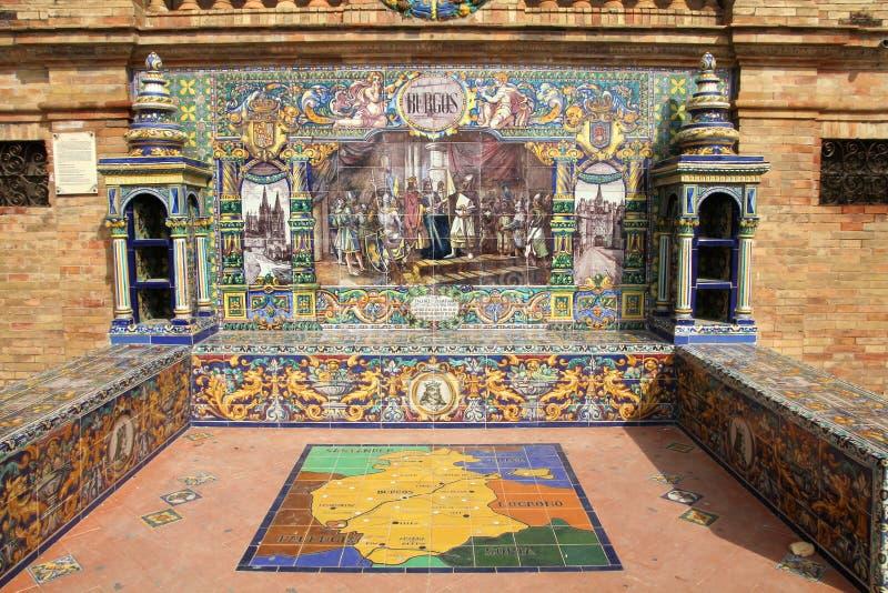 Burgos à Séville photos libres de droits
