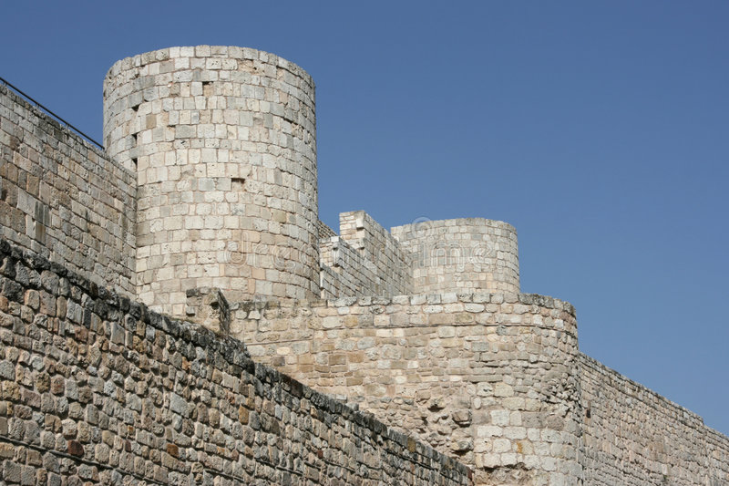 Burgos castle stock photo