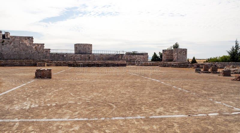 Burgos castle walls royalty free stock photo