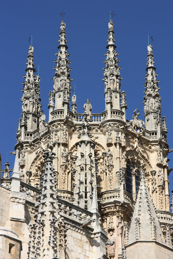 Burgos cathedral stock images