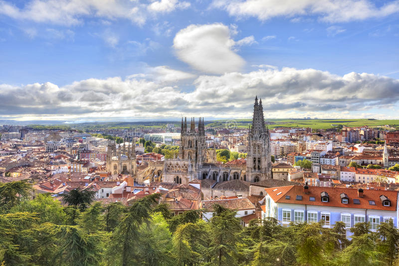 Burgos. Cathedral of Our Lady stock photo