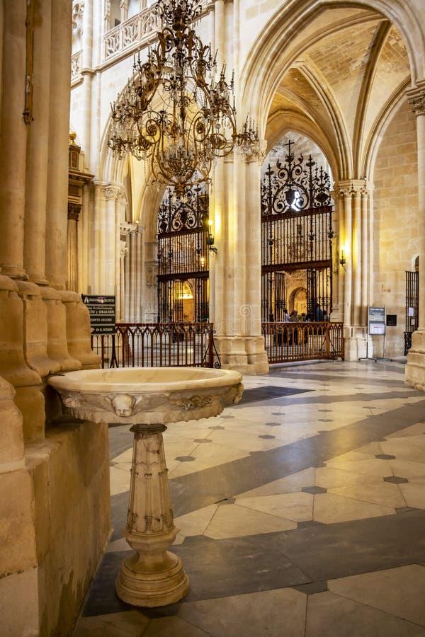 Burgos Katedralny wn?trze przy Burgos, Hiszpania zdjęcie stock