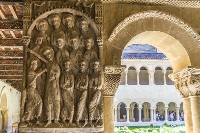 Burgos-Kloster von Silos lizenzfreies stockbild
