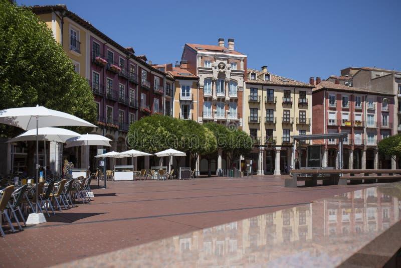 Burgos - maggiore della plaza - la Spagna fotografia stock