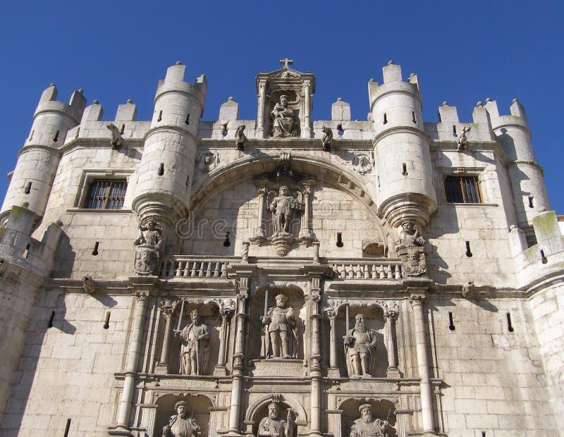 Burgos medieval fortress stock image