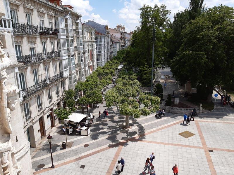 Burgos och Spanien arkivbild