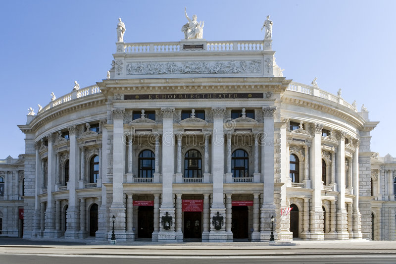 Burgtheater em Viena imagem de stock royalty free