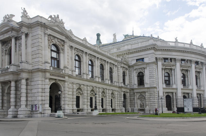 Burgtheater en Viena fotos de archivo