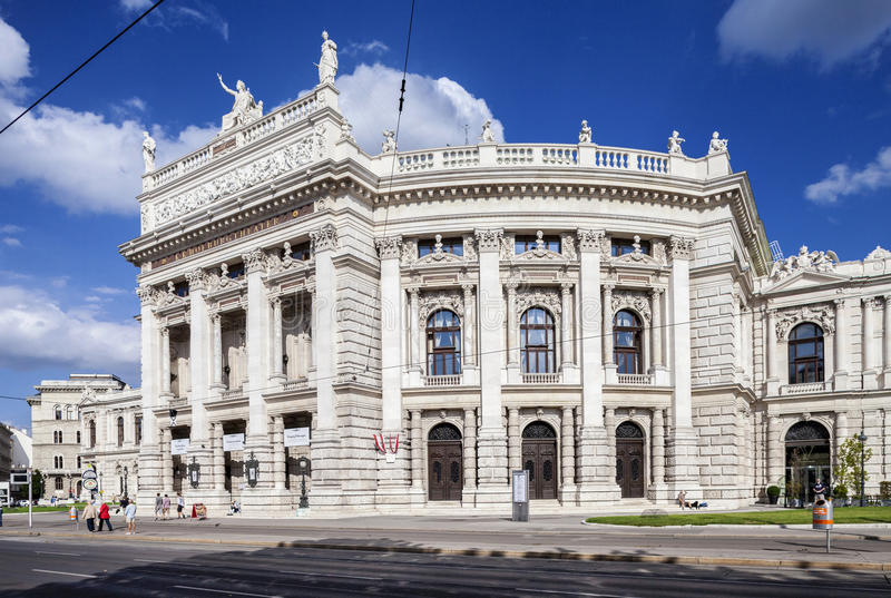 Burgtheater i Wien, Österrike arkivbilder