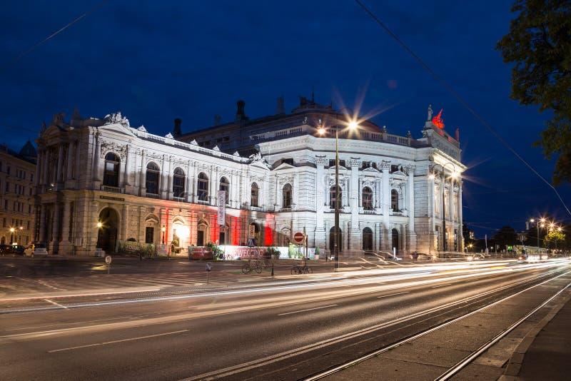 Burgtheater a Vienna fotografia stock libera da diritti