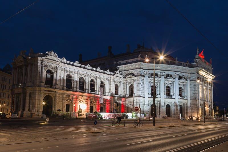 Burgtheater a Vienna immagini stock
