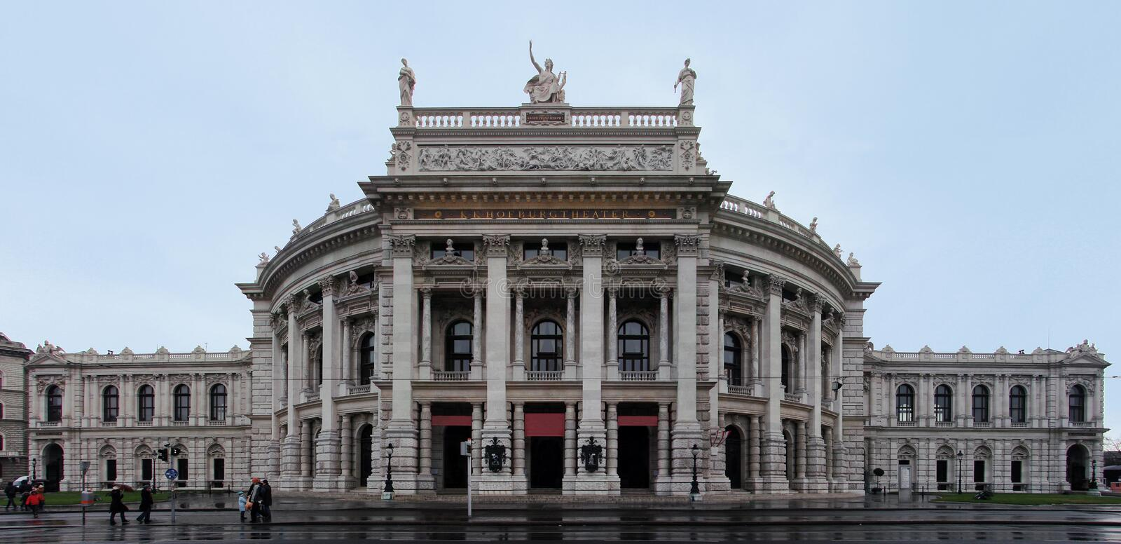 burgtheater Vienne photographie stock