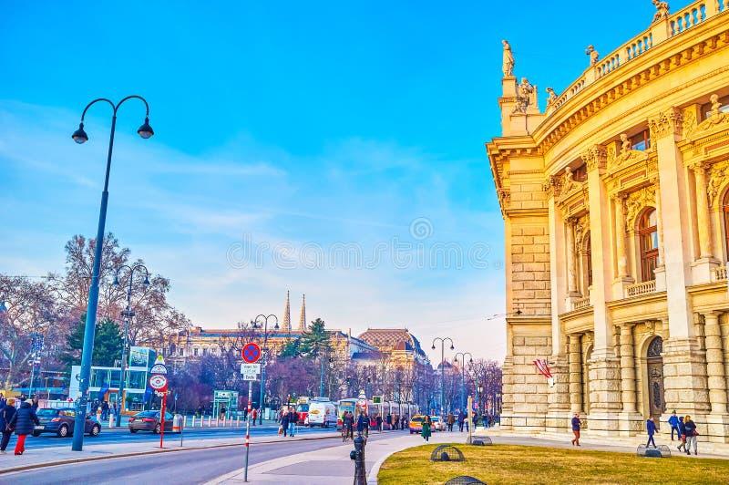 Burgtheateren i Wien, ?sterrike arkivfoton