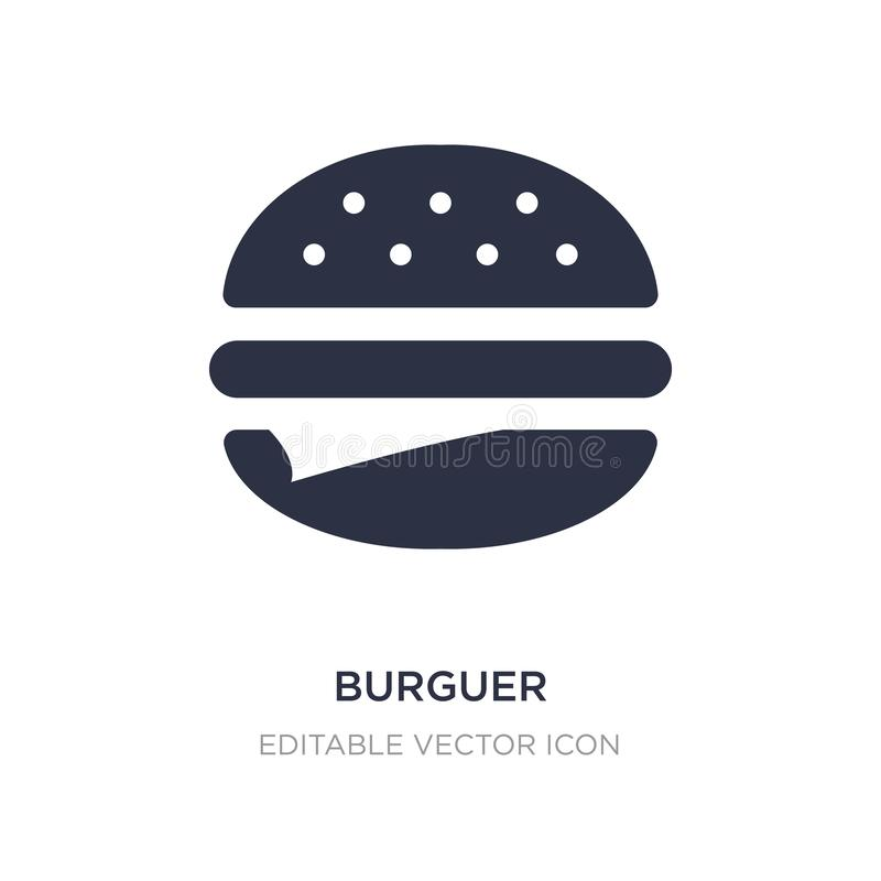 burguer icon on white background. Simple element illustration from Food concept royalty free illustration