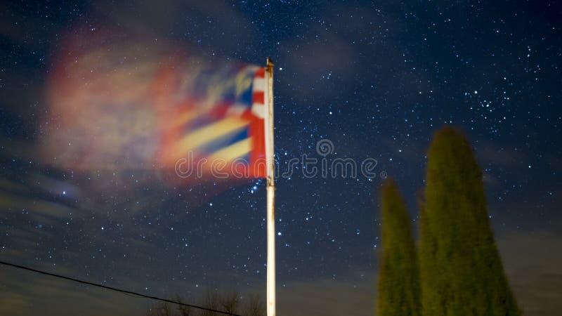 Burgundy σημαία με τα αστέρια στοκ φωτογραφίες