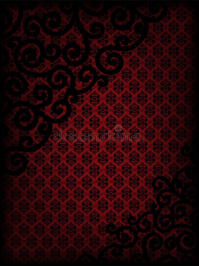 Free Burgundy Background With Ornament Stock Image - 22967221