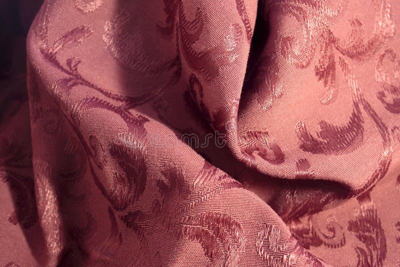burgundy damasttyg arkivfoton