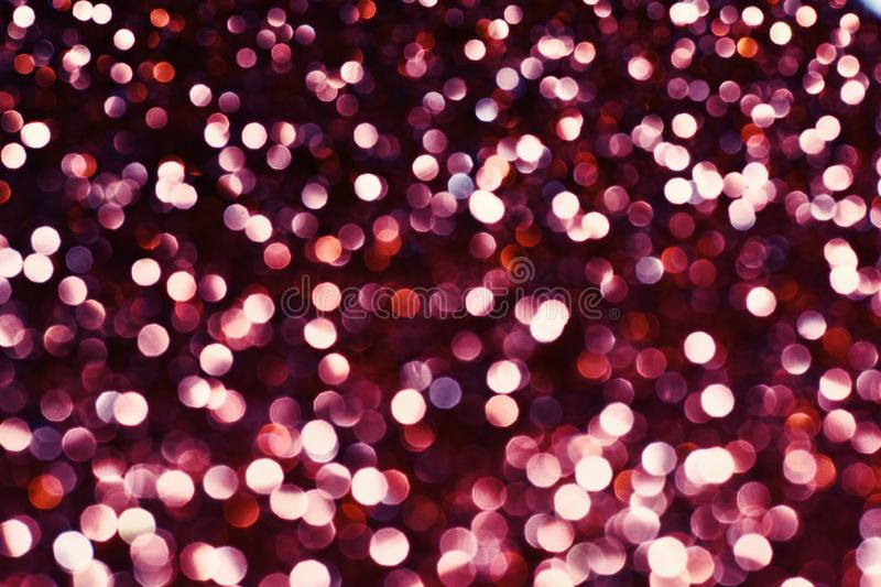 Burgundy effect made by bokeh abstract background, copy spac royalty free stock images