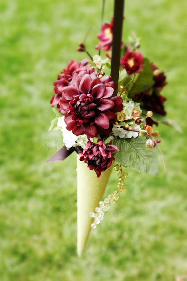 Burgundy Flower Bouquet royalty free stock photo