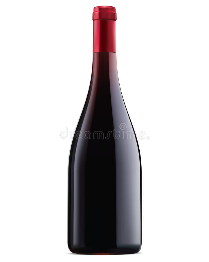 Free Burgundy Red Wine Bottle. Vector Illustration Stock Photography - 39462002