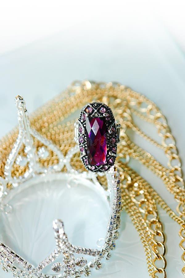 Burgundy ring royalty free stock image