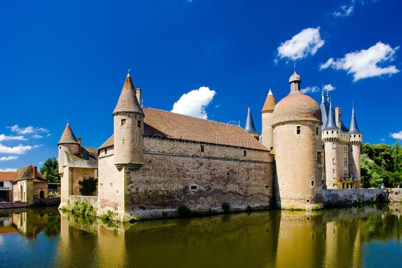 burgundy slott arkivbild
