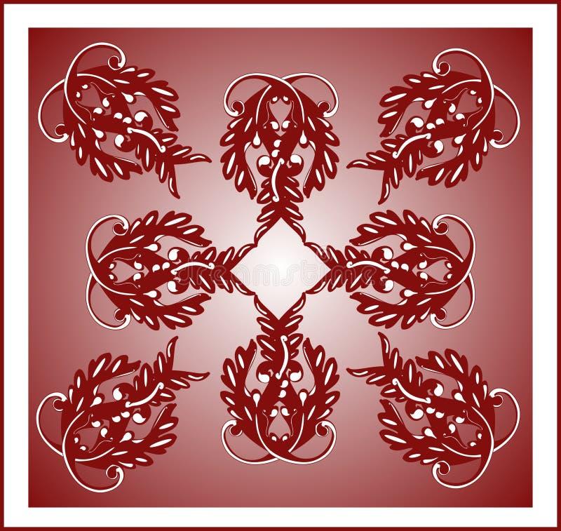 Download Burgundy tile stock vector. Illustration of floral, pattern - 8532945