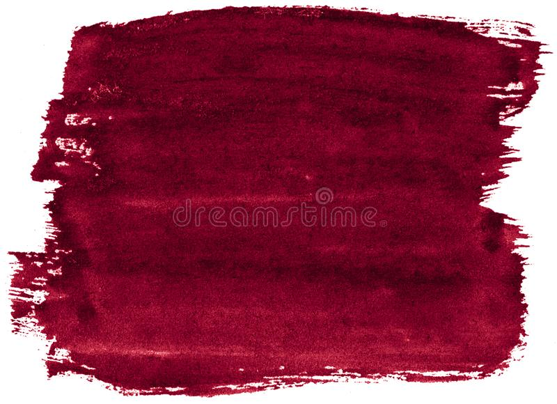 Burgundy Watercolor background with sharp borders and divorces. Watercolor rough brush stains. Burgundy Watercolor background  with sharp borders and divorces stock images