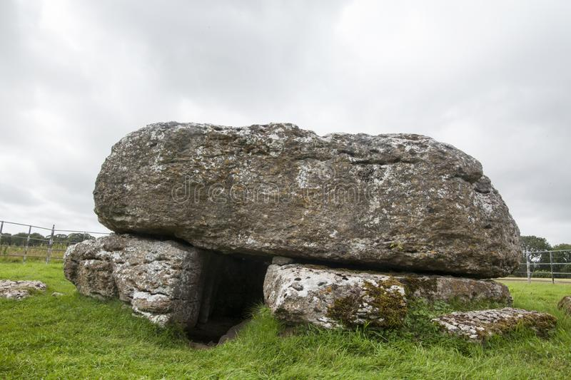 Lligwy burial chamber | The cockroach monument. This burial chamber located on the island of Anglesey in North Wales, is a certainly atypical chamber, since no stock image