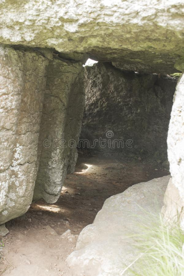 Lligwy burial chamber | The cockroach monument. This burial chamber located on the island of Anglesey in North Wales, is a certainly atypical chamber, since no royalty free stock images