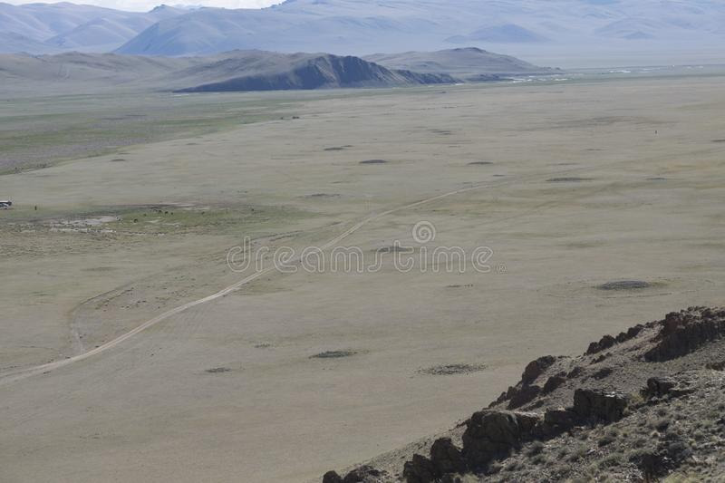 Burial mounds in Central Asia royalty free stock photo