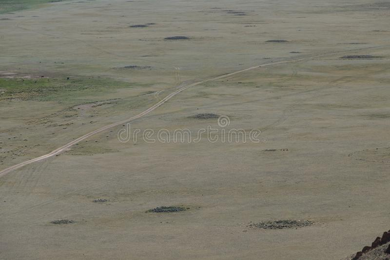 Burial mounds in Central Asia. royalty free stock photography