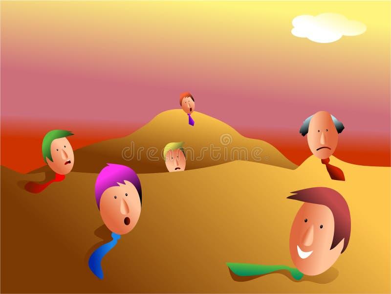 Download Buried business team stock illustration. Illustration of community - 457362