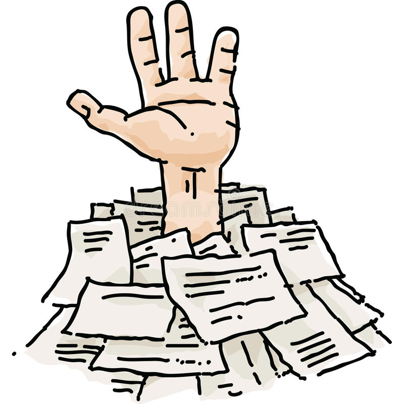 Free Buried In Paperwork Stock Photography - 41750382