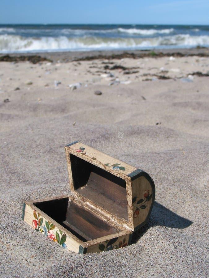 Buried Treasure-chest... Too Late :-) Stock Image