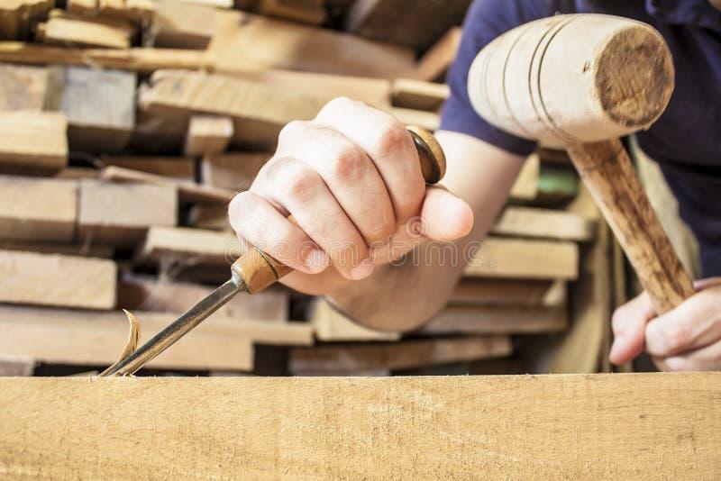 Burin en bois de gouge photo libre de droits