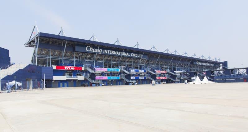 The Buriram International Circuit or Chang international Circuit in Buriram,Thailand stock photography