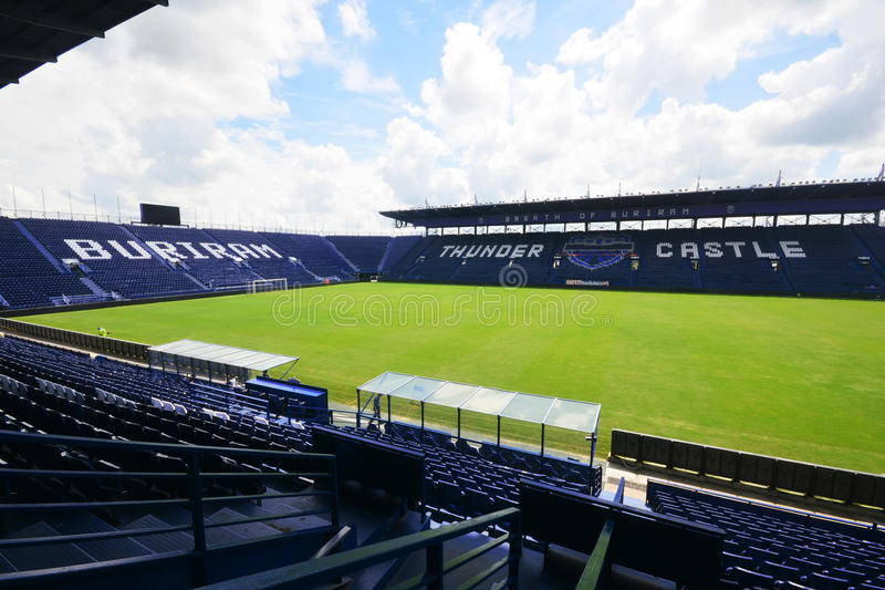 Buriram,Thailand - August 12, 2015: I-mobile Stadium is the lar royalty free stock images