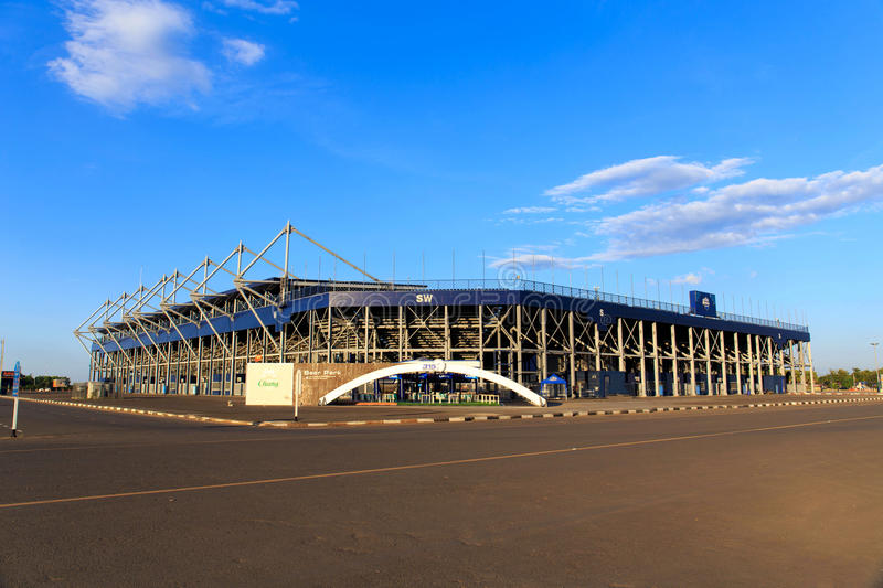 BURIRAM,THAILAND-NOV 12:View of I-mobile Stadium on Nov 12,2014 royalty free stock photos