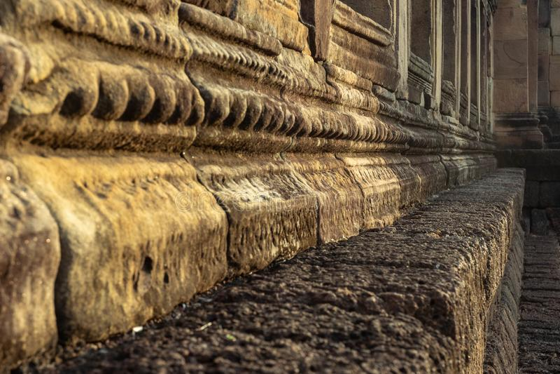 BURIRUM, ΤΑΪΛΑΝΔΗ - 7 ΔΕΚΕΜΒΡΊΟΥ 2018: Κινηματογράφηση σε πρώτο πλάνο Stone σε Pra στοκ εικόνες