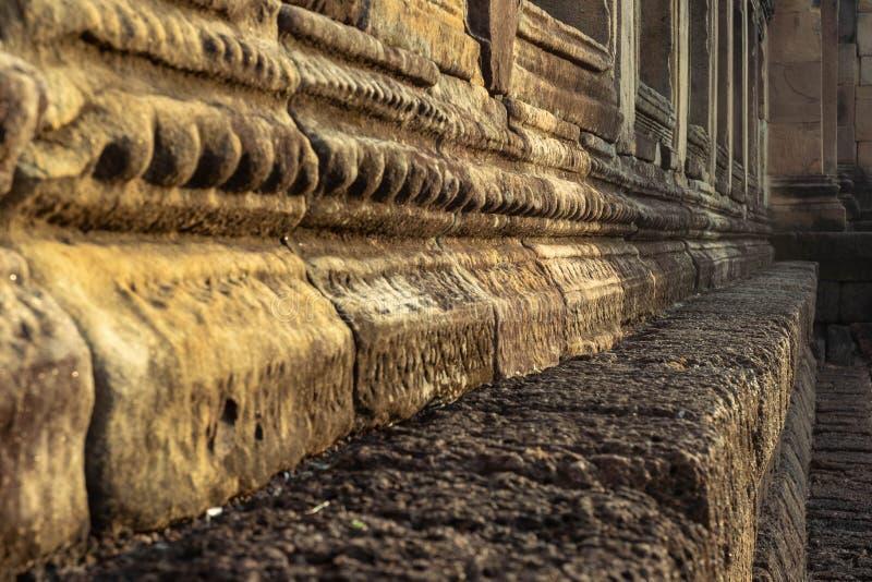 BURIRUM,THAILAND - DECEMBER 07, 2018: Closeup Stone at Prasarthin Muengtum at Prakhonchai District. BURIRUM,THAILAND - DECEMBER 07, 2018: PRASART HIN Muengtum or stock images