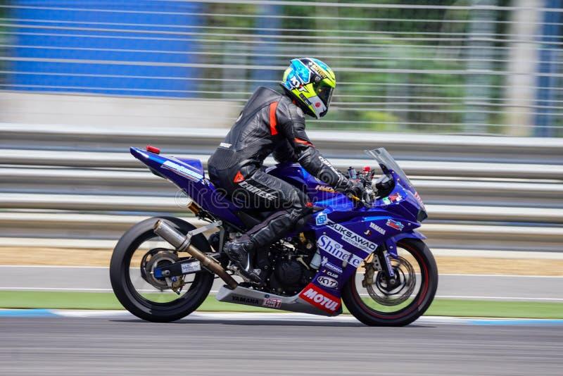 Burirum, Thailand - May,7,2017 : PTT BRIC Super Bike 2017, Thailand. Thailand Super Bike Racing 2017 in Thailand royalty free stock photos