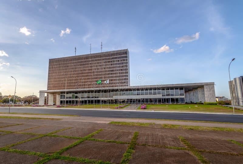 Buriti kwadrat i pałac Buriti, Brasilia -, Distrito Federacyjny, Brazylia obraz stock
