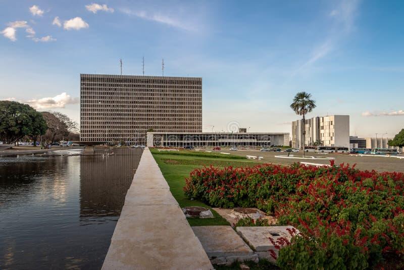 Buriti kwadrat i pałac Buriti, Brasilia -, Distrito Federacyjny, Brazylia zdjęcia royalty free