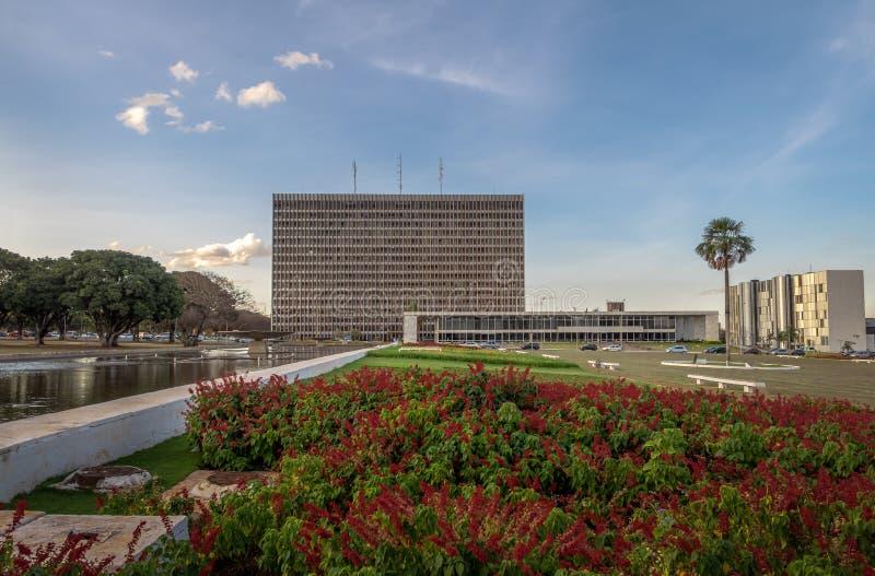 Buriti kwadrat i pałac Buriti, Brasilia -, Distrito Federacyjny, Brazylia fotografia royalty free