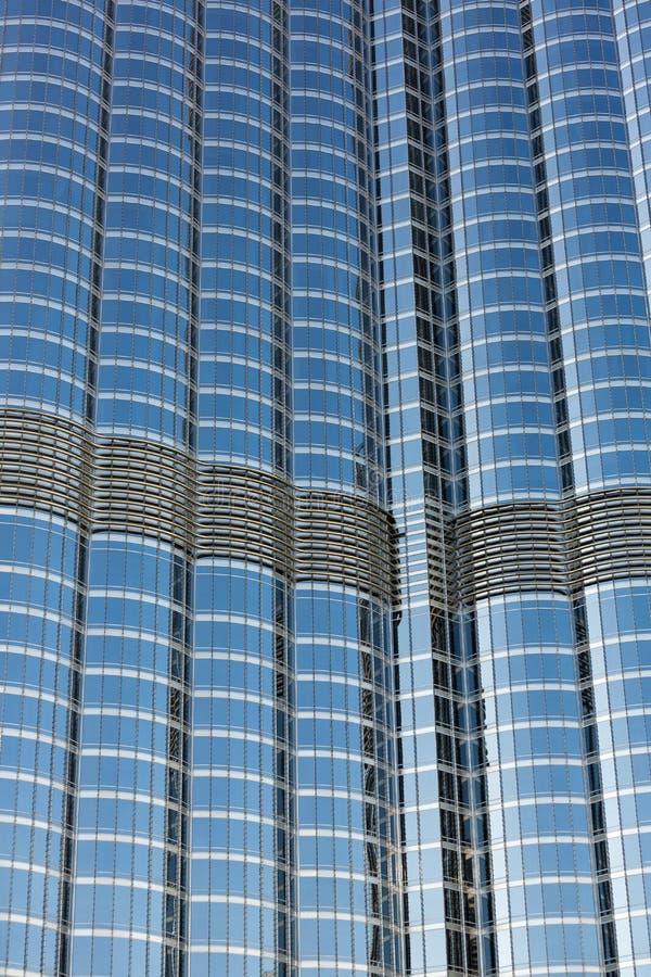 Burj哈利法的门面在迪拜,世界高楼 免版税库存照片