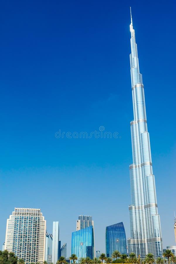 Burj哈利法门面,迪拜,阿拉伯联合酋长国 库存照片