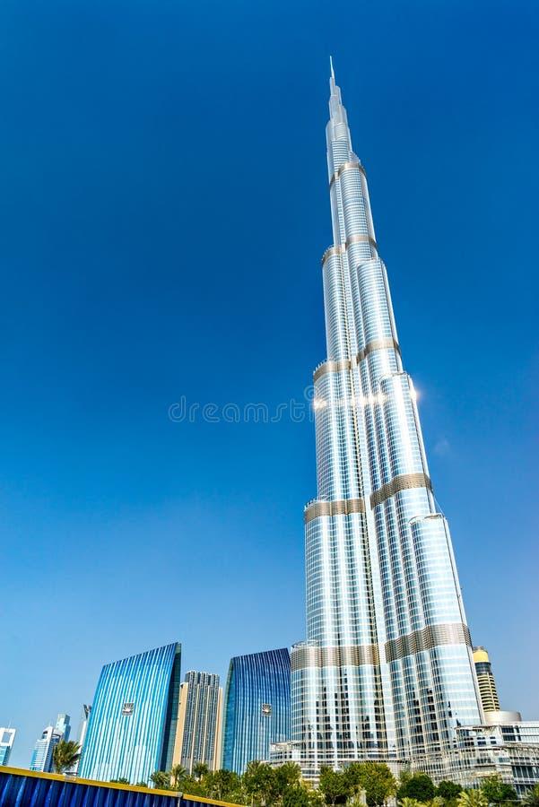 Burj哈利法门面,迪拜,阿拉伯联合酋长国 免版税图库摄影